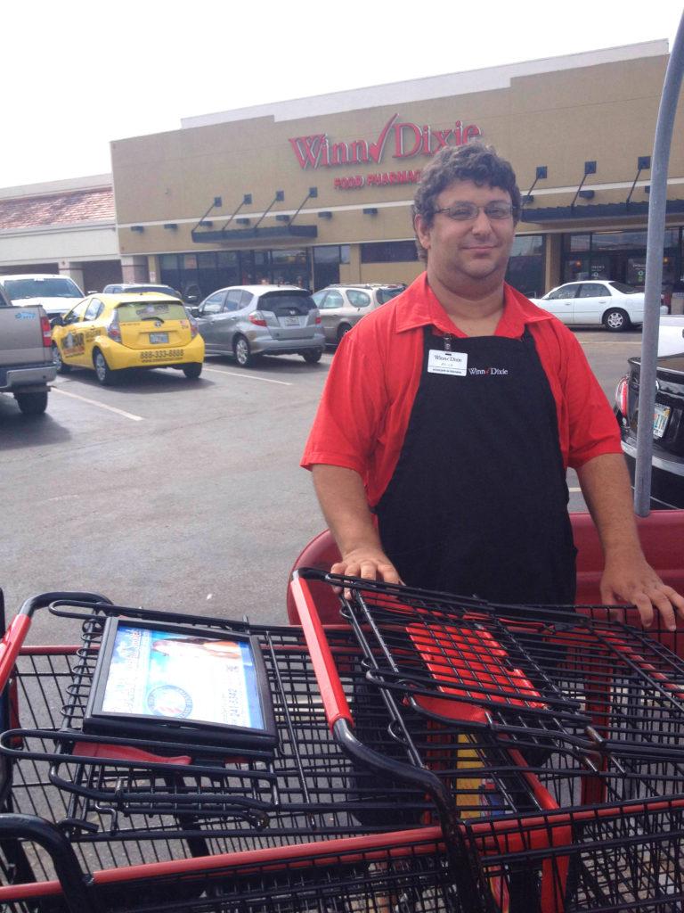 Working at Winn Dixie gathering carts