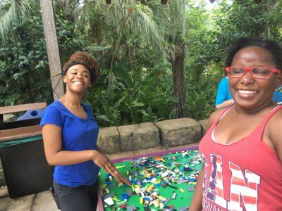Ladies doing lego